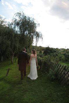 Marrid couple walking through the gardens at Kent Life Kent Wedding Photographer, Wedding Photography, Couples Walking, Photographs, Wedding Day, Gardens, Couple Photos, Life, Image