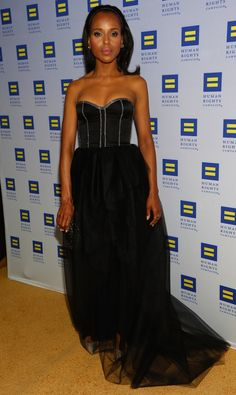 Kerry Washington Photos - Actress Kerry Washington attends the 2013 Human Rights Campaign Los Angeles Gala at JW Marriott Los Angeles at L. LIVE on March 2013 in Los Angeles, California. - Celebs at the Human Rights Campaign Gala Strapless Corset, Strapless Dress Formal, Celebrity Dresses, Celebrity Style, Human Rights Campaign, Black Bustier, Gala Dresses, Dress Picture, Celebs
