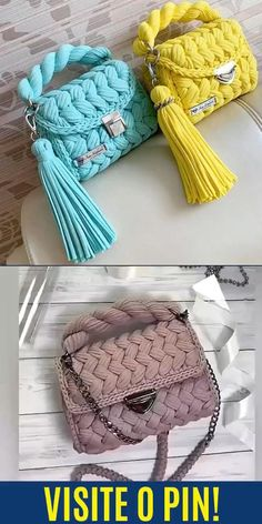 Popular Crochet, Bags, House 2, Crochet Dresses, Amigurumi, Craft Videos, Crochet Tote, Coin Purses, Trapillo
