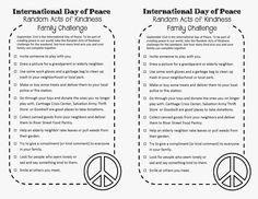 For International Day of Peace
