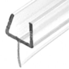 One-Piece Bottom Rail With Clear Wipe - Shower Seal.    Available for 10mm Glass (P501BR) & 12mm Glass (P660BR)