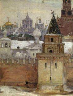 Mikhail Nesterov - The Kremlin in Winter, 1897