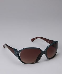 Take a look at this Teal & Mauve Cutout Sunglasses by Diane von Furstenberg on #zulily today!