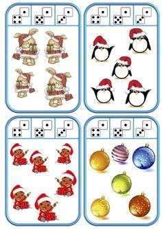 Cartes à pincer de Noël Christmas Love, Christmas And New Year, Christmas Themes, Christmas Crafts, Montessori Classroom, Classroom Activities, Preschool Learning, Kindergarten Math, Numbers Preschool