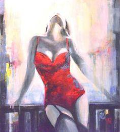 "Saatchi Art Artist Elżbieta Czerwińska -   Candela; Painting, ""Game"" #art"