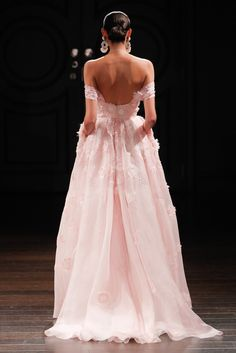 Click for all the absolutely breathtaking runway shots from Naeem Khan's spring 2017 bridal collection.  There are ballgowns, long-sleeve gowns, off-the-shoulder dresses, and more beauties.