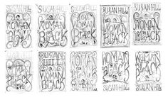 The Woman In Black – Book Cover on Behance The Woman In Black, Beautiful Lettering, Black Cover, Typography Inspiration, Typography Letters, Thumbnail Sketches, Black Books, Calligraphy, Drawings