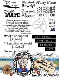 Australia Word Art, photograph overlay, Sentiments, Instant Download, Digital Digi Stamps, ID:NV-WA0035 By Nana Vic