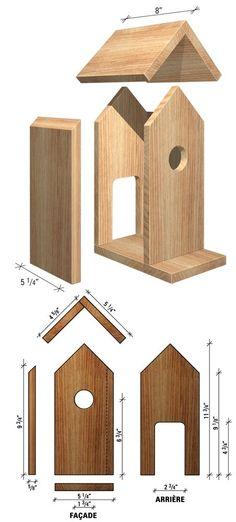 Maison Pour Oiseaux Plan                                                                                                                                                     Plus