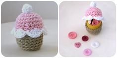 36 ideas crochet keychain cupcake key chains for 2019 Crochet Dress Girl, Crochet Poncho, Crochet Yarn, Free Crochet, Irish Crochet, Kitchen Hot Pads, Crochet Hat With Brim, Crochet Keychain, Crochet Patterns