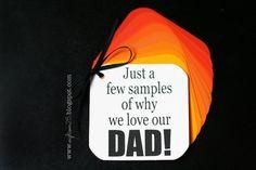 Samples of Why We Love Dad: eighteen25: simple samples