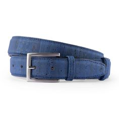 Korkgürtel «Denim» von CorkLane – Ökologischer Gürtel aus Kork Outfits Kombinieren, Accessories, Fashion, Natural Colors, Blue, Leather, Moda, Fashion Styles, Fashion Illustrations