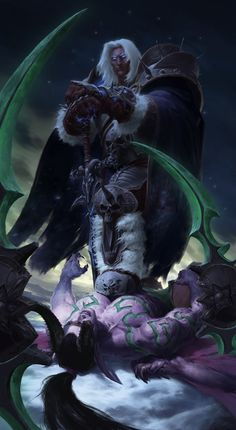 Arthas Menethil vs Illidan Stormrage by JiHunLee on DeviantArt