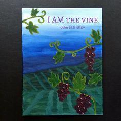"John Painting ""Evening Vineyard"" by Breen Sipes Focus Images, Vines, Vineyard, Painting, Art, Art Background, Painting Art, Paintings, Kunst"