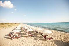 Die weißen, langen Sandstrände in Apulien sind der Geheimtipp!