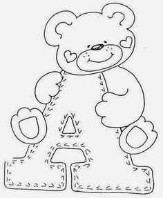 Artes da Nil  - Riscos e Rabiscos: Alfabeto do Urso alegre.