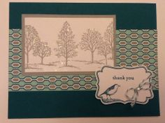 Stampin up lovely as a tree four frames decorative label punch season of style winter holiday thank you card www.ashleighgeremia.stampinup.net www.meetup.com/Charlotte-Stamper/