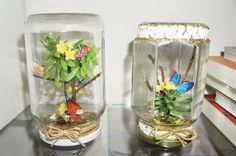 reciclagem mini jardim borboletas