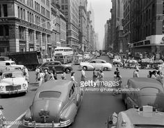 1940s 1950s Street Scene Stock Photo | Getty Images