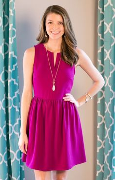 A stunning dress, The Everly Dress is the new dress you NEED in your wardrobe! Everly DR5174MAG deep pink sundress is a classic look that will forever be a staple for your wardrobe! Weddings, cocktail parties, day events... whatever, whenever!