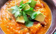Sopa de quinoa con ahuyama