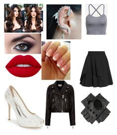 """Untitled #47"" by mitza0103 ❤ liked on Polyvore featuring Alexander McQueen, Black, Badgley Mischka, Lime Crime and Étoile Isabel Marant"