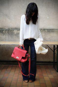 chemise soie blanche Zara