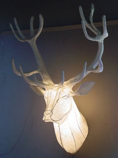 Fine Art by Michael Methven includes Reindeer Stag Trophy, just one example of the quality Animals & Wildlife Art fine artwork available on our Fine Art Gallery Online. Browse other Sculptures by Michael Methven in our Fine Art Gallery. Paper Lantern Lights, Paper Lanterns, Stag Head, Creation Deco, Faux Taxidermy, Light Crafts, Paperclay, Animal Heads, Soft Sculpture