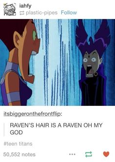RAVEN'S HAIR IS A RAVEN!!! Always noticed this but it's cool to point out too!