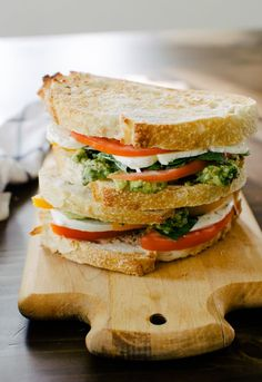 Caprese and avocado sandwich