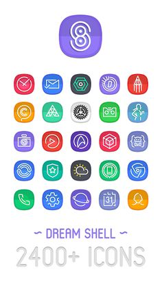 Dream Shell ~ S8/Note8 Icon Pack v2.2.0.i.a.t [Patched]Requirements: 4.1 and upOverview: Dream Shell – S8 Icon Pack, is a set of icons inspired from SAMSUNG Galaxy S8's Dream UX with a mix of Google's Material Design scheme; created from ground up.     Features: • 2...