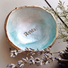 Personalized Ombré Jewelry Dish by PlumeEtPapier on Etsy