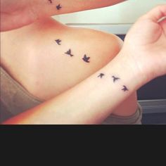 Sister tattoo ideas @Tabitha Gibson Van Arkel - I was thinking something like this concept