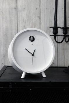 Diamantini Plex ClocK - Contemporary sleek clock with cuckoo bird!