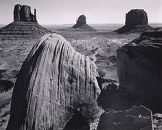 Photo by Ansel Adams -- Monument Valley, Arizona, 1958 Black And White Landscape, Black N White Images, White Art, Black White, Edward Weston, Ansel Adams Photography, Nature Photography, Ethereal Photography, Amazing Photography