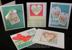 Debbie's Designs: My Paper Pumpkin April! Adding card stock, 5 cards with stuff from the box.