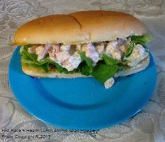 First Place 4 Health Lunch: Shrimp Salad Hoagie (Loved this one)