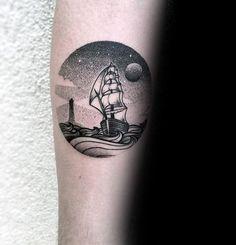 50 Small Ocean Tattoos For Men - Seafaring Ink Ideas Tattoo - 50 small ocean tattoos for men – seafaring ink ideas - Aztec Tribal Tattoos, Tribal Shoulder Tattoos, Mens Shoulder Tattoo, Tattoos Arm Mann, Body Art Tattoos, Sleeve Tattoos, Ship Tattoos, Mens Tattoos, Night Sky Tattoos