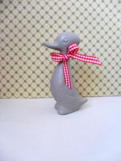 Wooden DUCK Painted Duck Vintage Wooden Duck Chalk Painted Duck Figurine Retro Duck Chalk Painted and Waxed NURSERY DECOR Hand Painted by BigGirlSmallWorld on Etsy