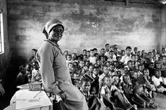 Omar Badsha, Teacher with class of eighty children, Inanda African History, African Art, David Goldblatt, Social Photography, History Online, Documentary Photographers, Black History, South Africa, The Past