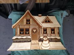 The Winter Home wood intarsia