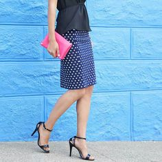 Love the polka dot skirt, maybe in another color.