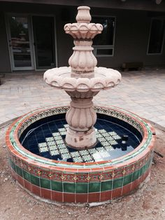 Mexican Tile Is Durable And Elegant For Decorating Around Your House Pool Fountain Fire
