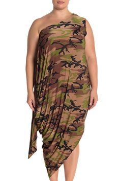 Jenny Camo Print Wear 5 Ways Dress (Plus Size) by COLDESINA on @nordstrom_rack Batwing Sleeve, Camo Print, Nordstrom Dresses, 5 Ways, Nordstrom Rack, Scoop Neck, Plus Size, Women's Fashion, Formal Dresses