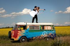Love the hippie bus. I WILL do this :)