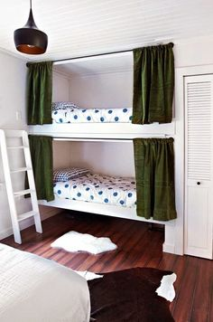 I think even if my kids have their own rooms when they get older that they should have bunk beds in their rooms in case of a sleep over. :]