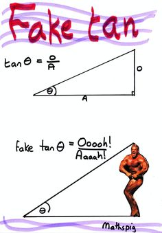 the trigonometry of the fake tan... And from this angle, it looks fabulous! xD