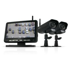 Defender Digital Wireless DVR Security System with 7 Inch LCD Monitor, SD Card Recording and 2 Long Range Night Vision Cameras (Black) Defender http://www.amazon.com/dp/B003Y73Q3Y/ref=cm_sw_r_pi_dp_v-NCvb0RB91NZ