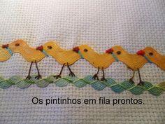 Eu Amo Artesanato: Pintinhos de sianinha