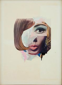 STUDY FOR A FASHION PLATE - I loveee this collage! By Richard Hamilton 1969.